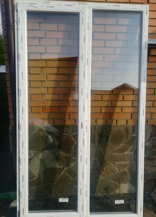 Пластиковая балконная дверь 1370х2335