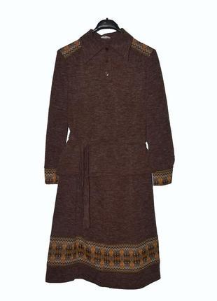 Красивый костюм юбка+кофта меланж с вышивкой
