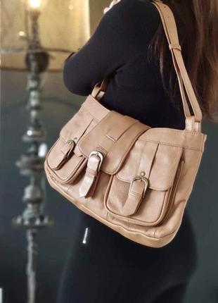 Lucia benito сумка из натуральной кожи.