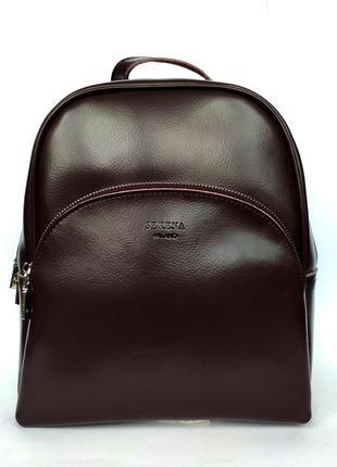 """Женский кожаный рюкзак """"hellion"""" темно-коричневый"""