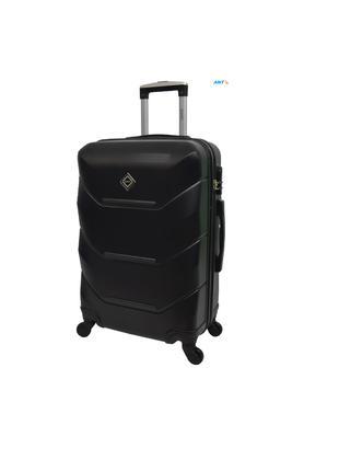 Дорожня валіза на колесах маленька чорна