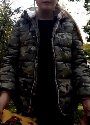 Теплая водонепроницаемая куртка для девочки подростка на меху ...