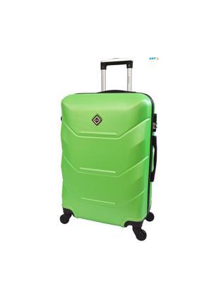 Дорожня валіза на колесах маленька салатова