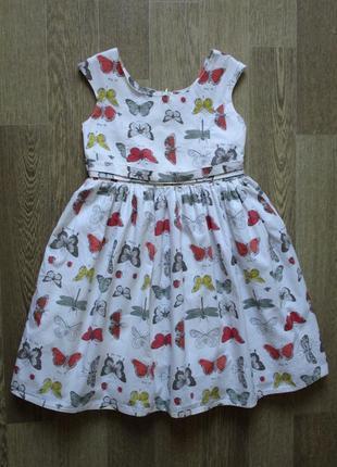 Нарядное пышное платье в бабочках