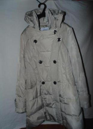 Пальто куртка пуховик miss fofo оригинал натуральный пух размер м