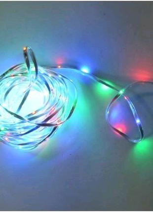 Лента светодиодная Flash силикон мульти 10 м