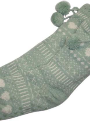 Теплые меховые домашние валенки носки с тормозками тапочки нид...