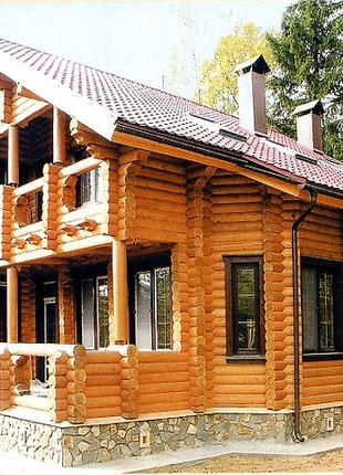Покраска сруба. Реставрации деревянных домов.