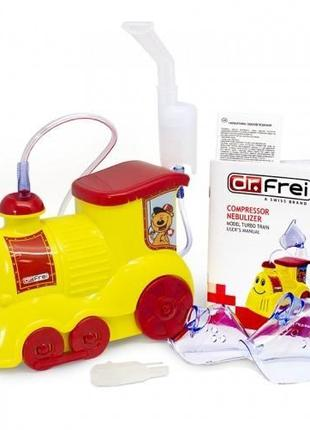 Ингалятор (небулайзер) Dr.Frei Turbo Train для детей компрессорны