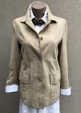 Винтаж,кожа,замша,куртка,жакет,пиджак,люкс бренд,оригинал,