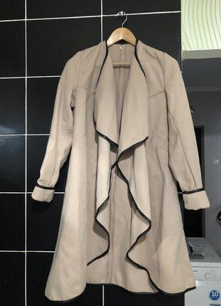 Бежевый кашемировый пиджак кардиган размер 42-46