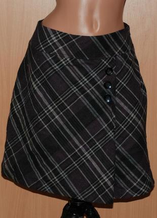 Шерстяная юбка бренда  blue motion с декоративными пуговицами ...