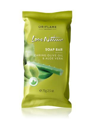 Мыло с оливой и алоэ вера Love Nature