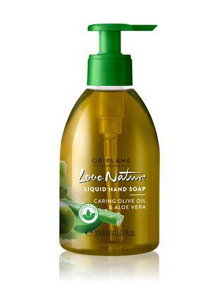 Жидкое мыло для рук с оливой и алоэ вера Love Nature