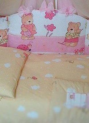 Комплект постельный в детскую кроватку Асик