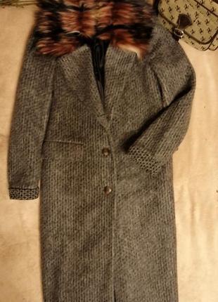 Пальто итальянское с мехом