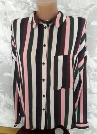 Трендовая блузка рубашка 48-50 р.