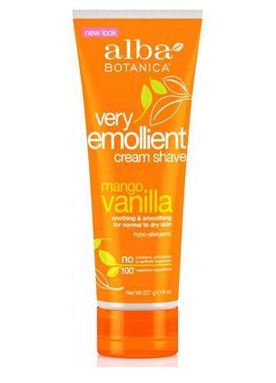 Смягчающий крем для бритья «манго и ваниль» very emollient alb...