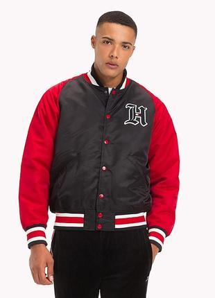 -10 % теплый бомбер куртка tommy hilfiger оригинал s-м, xl