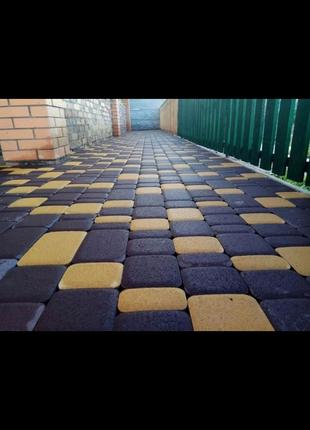 Тротуарная плитка (укладка тротуарной плитки)