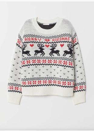 Новогодний свитер h&m. новый.