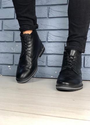 Lux обувь! зимние натуральные мужские ботинки 🥾 оксфорд 40-45р