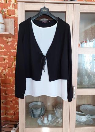 Блуза обманка большого размера