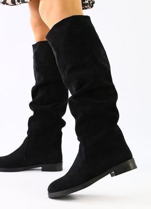 Lux обувь! качественные зимние натуральные высокие сапоги- трубы