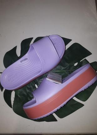 Шлепки crocs crocsband platform