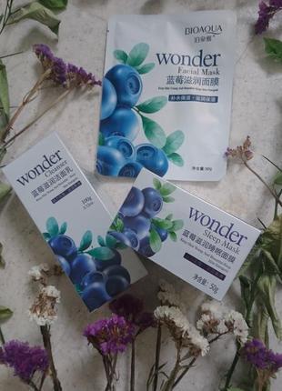 Набор bioaqua wonder из 3 средств по уходу за кожей для лица с...