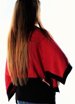 Свитер  оверсайз с отделкой и рукавом кимоно (широкая резинка ...