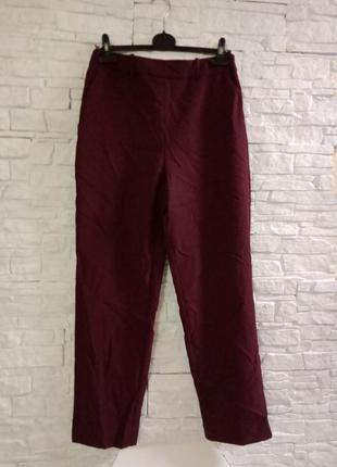Женские брюки баллоны цвета марсала