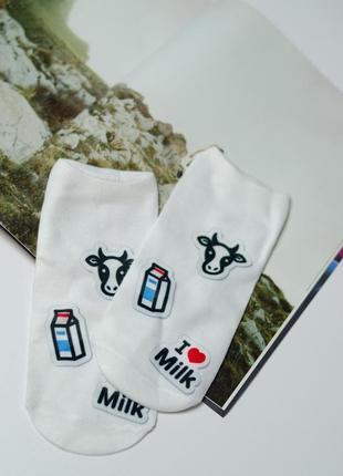 Новые кроткие трендовые белые носки с 3-d принтом. отличный мо...