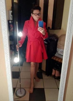 Женское демисезонное пальто большого размера