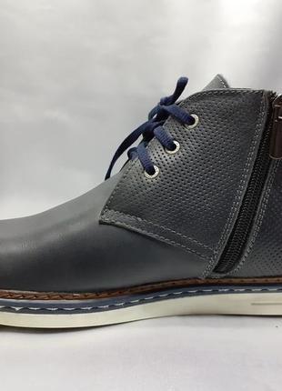 Распродажа!зимние кожаные ботинки под кеды на молнии faro