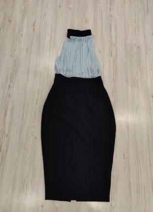 Ликвидация товара 🔥   класическое сине голубое платье миди с ч...