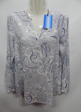 Блуза легкая фирменная женская ESPRIT р.42-46 100бж
