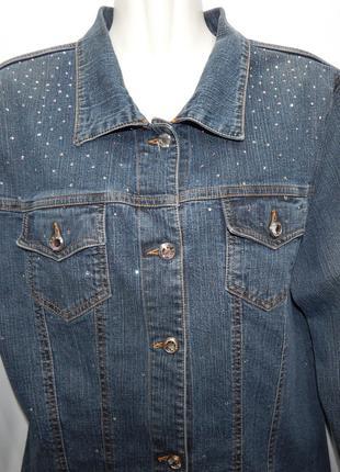 Куртка джинсовая женская со стразами HOLIDAY TAGLIA Vintage, R...
