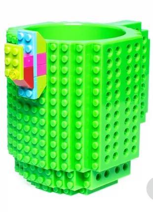 Кружка Lego брендовая 350 мл Green