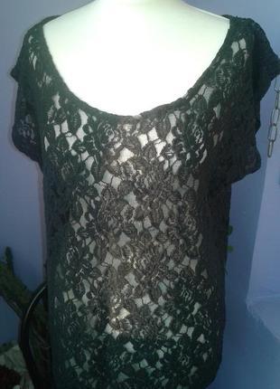 Топ блуза секси гипюр р 50-52