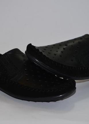 Мужские туфли, мокасины,кожа+замша