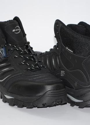 Мужские зимние ботинки, кожа.большие размеры