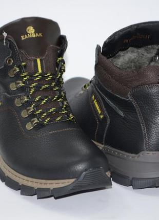 Зимние мужские ботинки, кожа