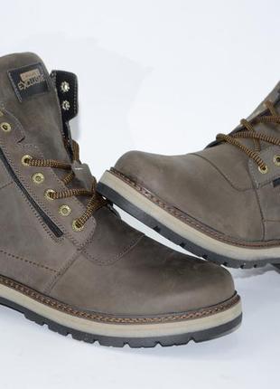 Мужские высокие зимние ботинки из натуральной кожи