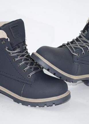 Женские ботинки, зима, нубук