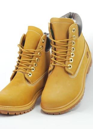 Женские ботинки timberland кожаные тимберленд желтые, бежевые