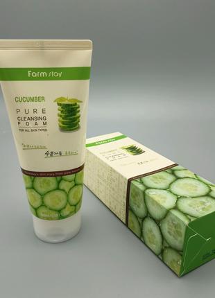 🥒Пенка для умывания FarmStay Pure Cleansing Foam Cucumber
