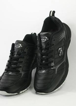 Мужские кожаные кроссовки, 658с