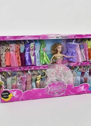 Кукла с платьями, гардеробом одежды Girl Fashion Y 02 А-1, Кук...