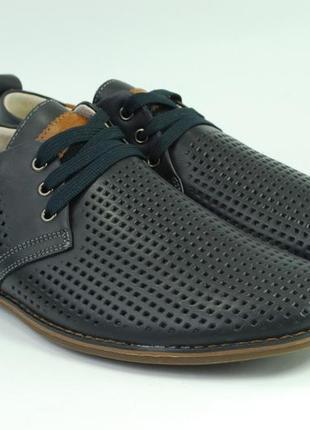 Мужские летние туфли, кожа, недорого